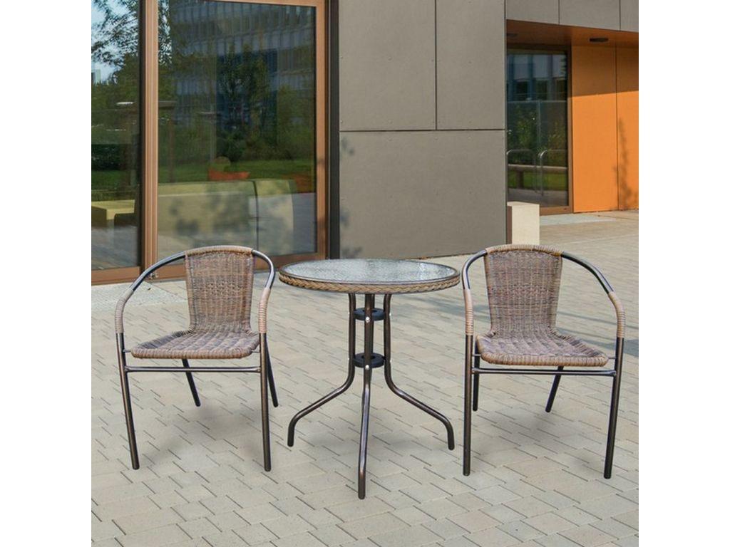 Комплект мебели из искусственного ротанга для балкона асоль-.